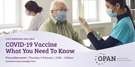 COVID-19 Vaccine - What You Need To Know tickets