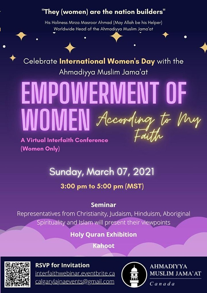 International Women's Day, Interfaith Symposium 2021 image