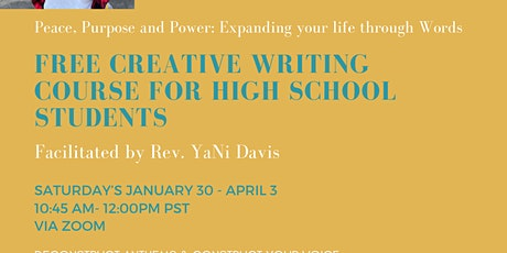 Peace, Purpose, and Power: Expanding your life through Words-Teens tickets