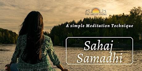 An Online introduction to Sahaj Samadhi Meditation tickets