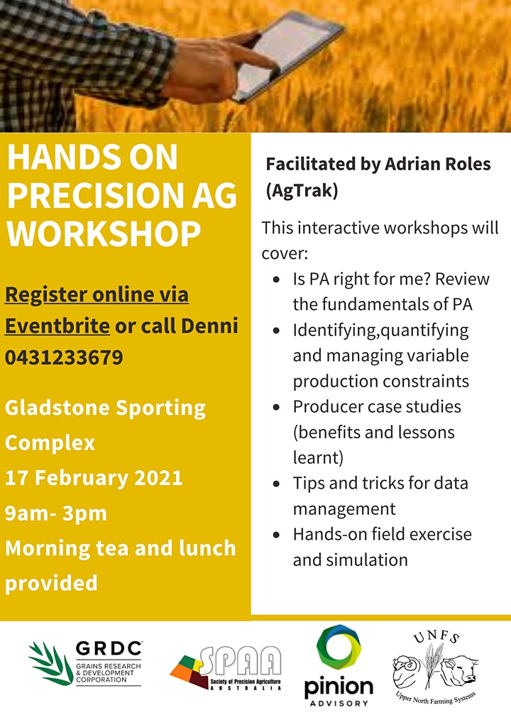 Hands on Precision Agriculture Workshop image