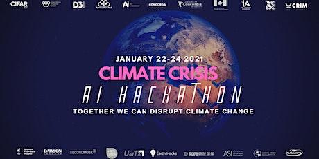 Climate Crisis AI Hackathon + Kickoff Conference tickets