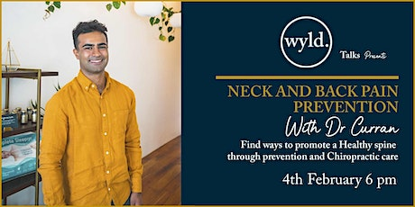 Neck And Back Pain Prevention With Dr Curran tickets