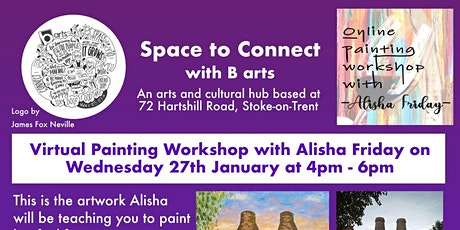 FREE Paint along workshop with Alisha Friday for Staffordshire Uni Students tickets