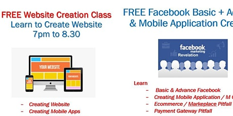 Learn to Create Website & E commerce site (Online) tickets