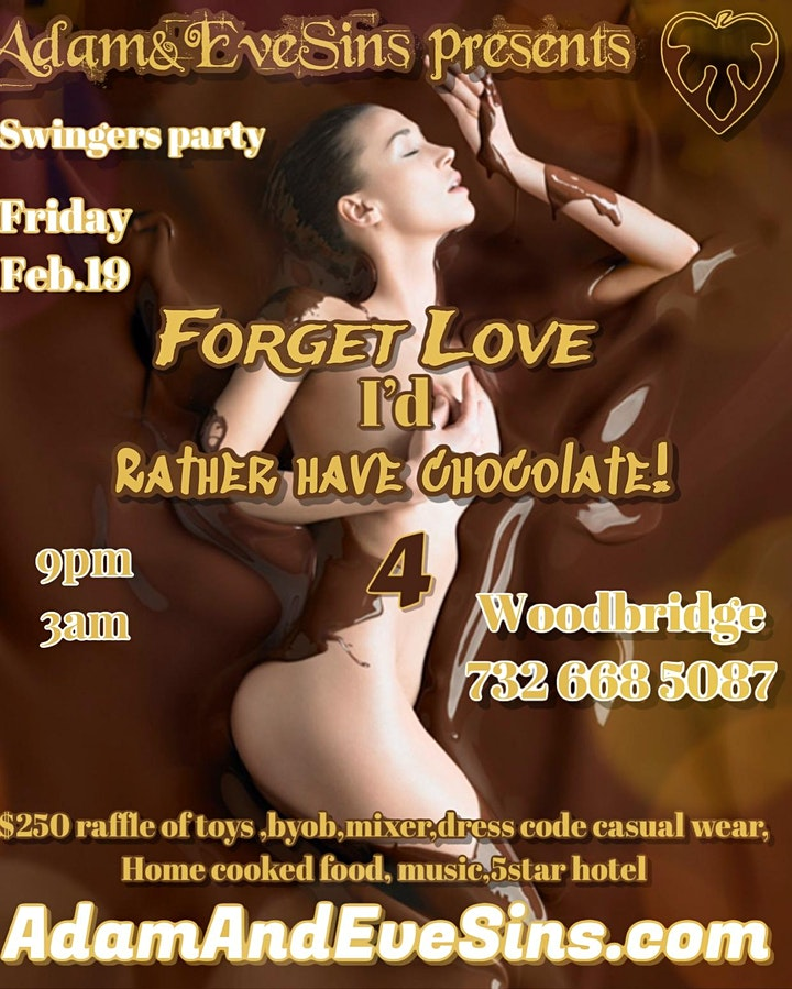 Copy of Forget love I'd Rather Have chocolate! image