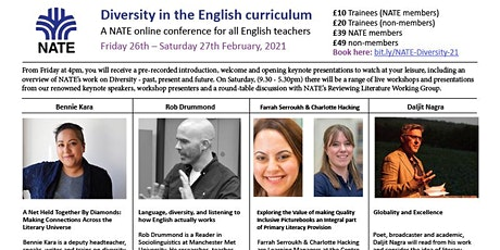 Diversity in the English Curriculum - a NATE online conference tickets