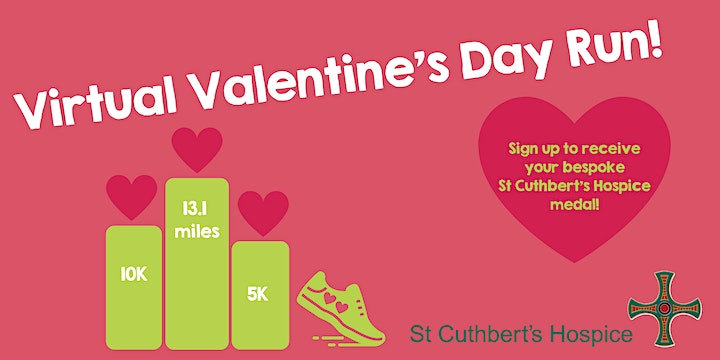 St Cuthbert's Hospice Virtual Valentine's Day Run 2021 image