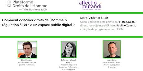 Concilier droits de l'homme & régulation à l'ère d'un espace public digital billets