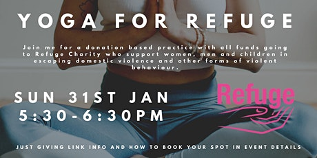 DONATION BASED - Yoga for Refuge Charity tickets
