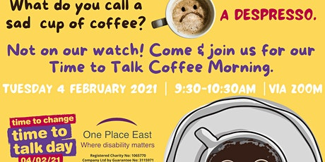 Time to Talk Day  Mental Health & Well-being Event: Coffee Morning tickets