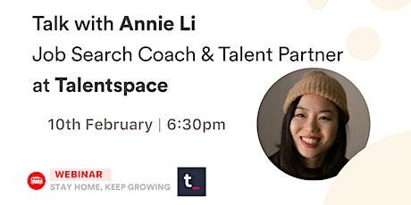 [Talk] Annie Li - Talent Partner at Talentspace tickets