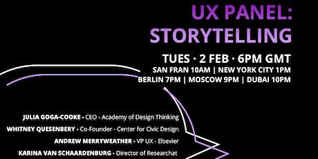UX Panel: Storytelling tickets