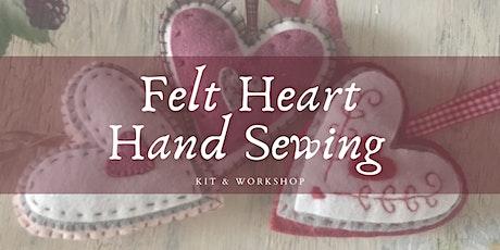Felt Heart Ornament Kit & Workshop tickets
