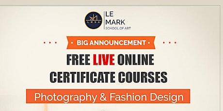 Free Online Fashion Design Course Weekday Batch  - 1 tickets