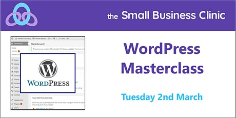 WordPress Masterclass, 2nd March - online workshop tickets