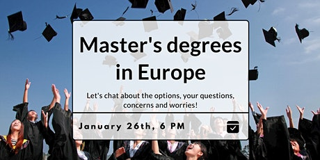 Master's degrees in Europe tickets