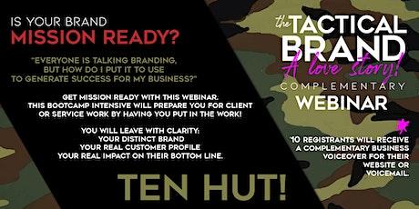 The Tactical Brand Webinar tickets