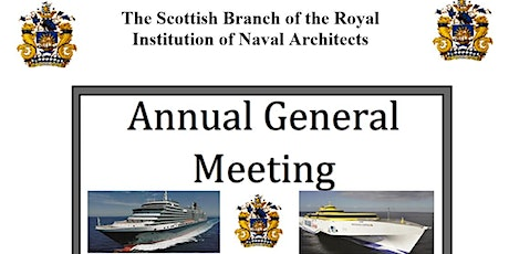 RINA Scottish Branch - Annual General Meeting tickets