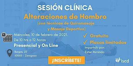 Sesión Clínica Alteraciones de hombro -Quiromasaje y Masaje Deportivo DÍA entradas