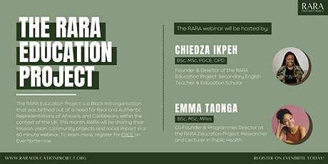 RARA Education Project: Who We Are tickets