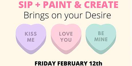 Sip Paint & Create with Soak & Relax and Drink Language Valentines Day tickets