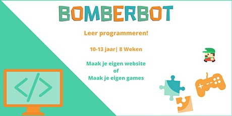 Bomberbot | Programmeer je eigen game of website | 10-13 jaar | 8 weken tickets