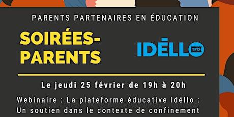 La plateforme éducative Idéllo : Un soutien dans le contexte de confinement billets