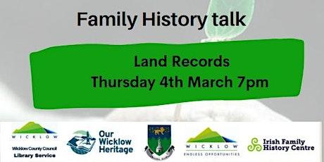 Family History & Genealogy Talk:Land Records tickets