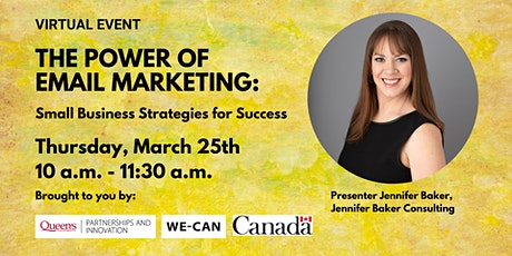 The Power of Email Marketing: Small Business Strategies for Success tickets