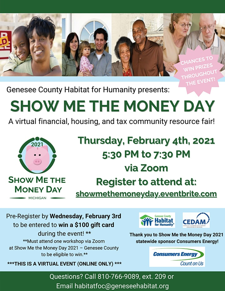 Show Me the Money Day 2021 - Genesee County image