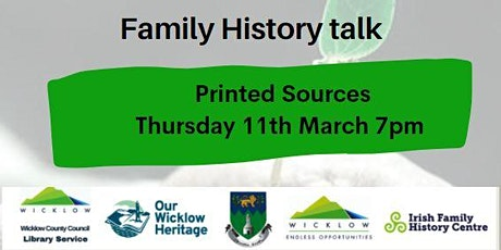 Family History & Genealogy Talk:Printed Sources tickets