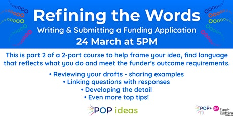 Refining the Words -  Writing and Submitting a Funding Application tickets