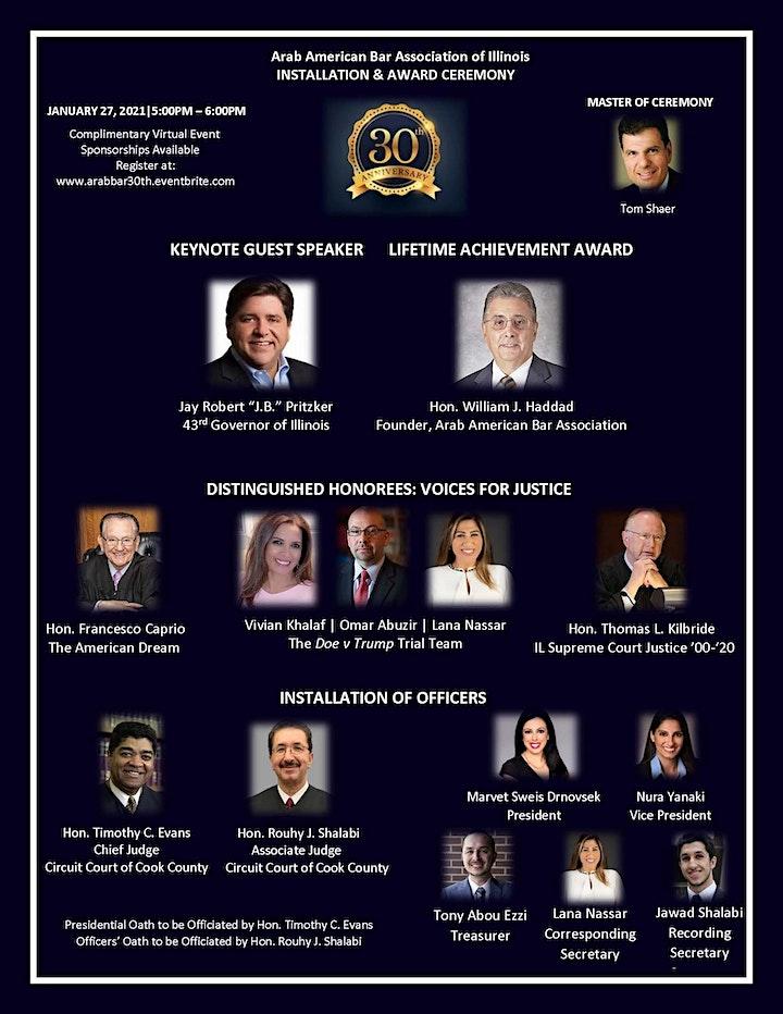 30th Anniversary: Installation & Award Ceremony image