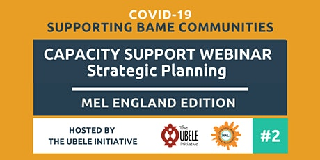 MEL England Capacity Support Webinar: Strategic Planning with Yvonne Witter tickets