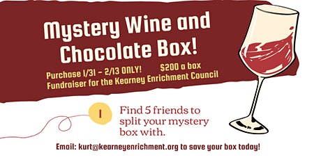 Mystery Wine and Chocolate Boxes - KEC Fundraiser! tickets
