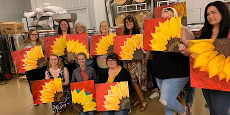 Red Sunflower Canvas Paint Night tickets