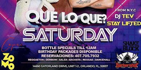 Que Lo Que Saturdays tickets
