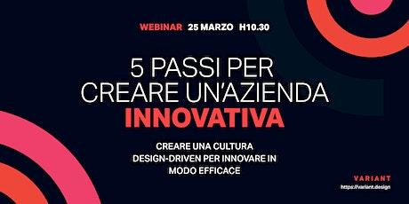 5 passi per creare un'azienda innovativa biglietti
