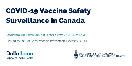 COVID-19 Vaccine Safety Surveillance in Canada tickets
