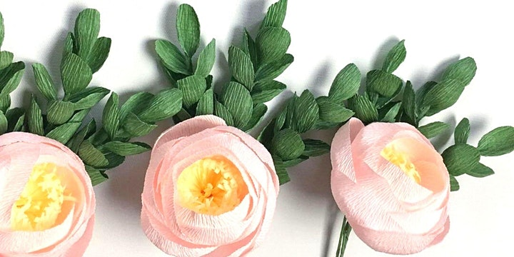 Learn Paper Craft Flower- Virtual Workshop [ Little Flowers Everywhere ] image