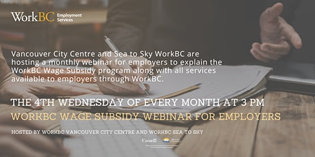 WorkBC Wage Subsidy Webinar for Employers tickets