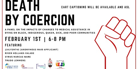Impacts of changes to MAiD on Black Indigenous Queer and Poor Communities tickets