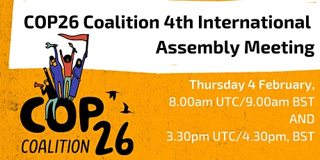 COP26 Coalition: 4th International Assembly Meeting tickets