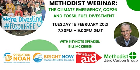 Methodist Webinar: The Climate Emergency, COP26  and Fossil Fuel Divestment tickets
