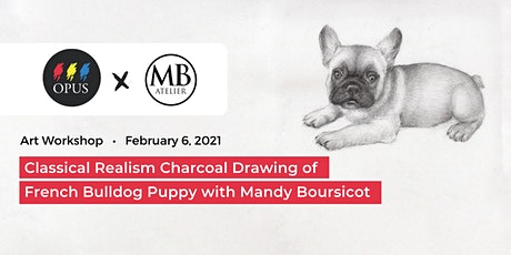 Charcoal Drawing of French Bulldog Puppy with Mandy Boursicot tickets