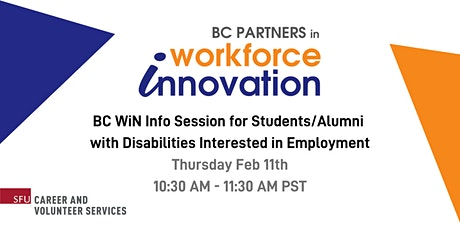 BC WiN Info Session for Students / Alumni with Disabilities tickets