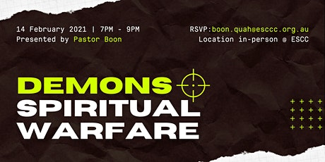 Demons & Spiritual Warfare Seminar tickets