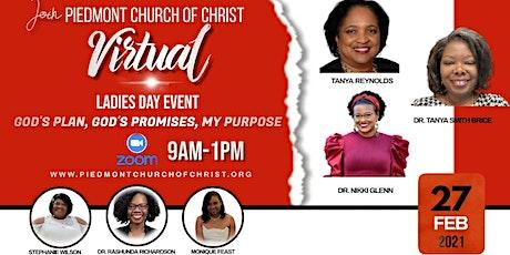 Piedmont Church of Christ Ladies Day 2021 tickets