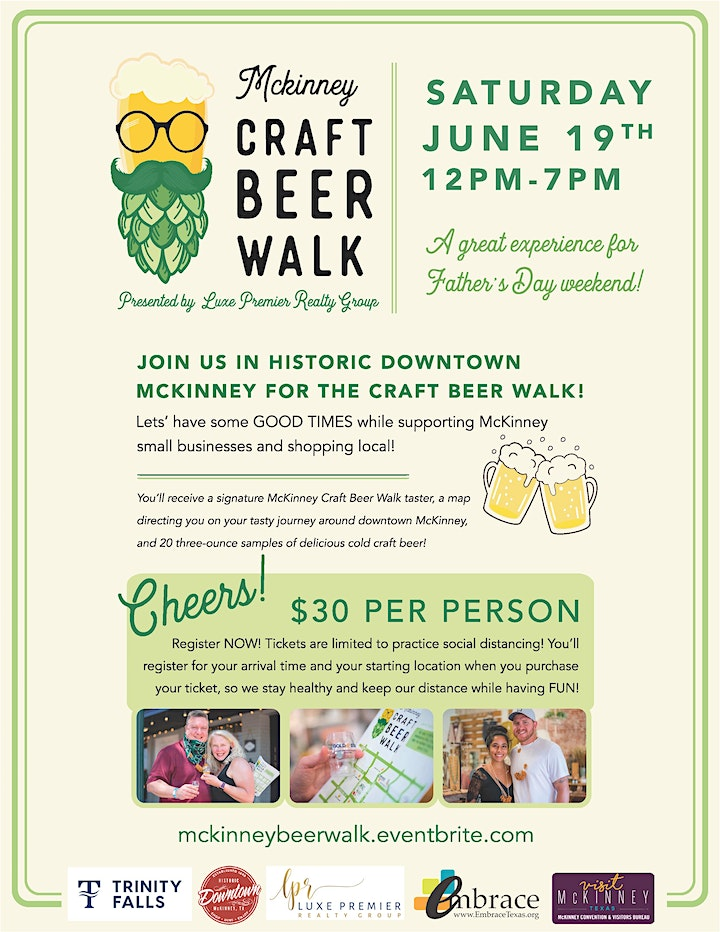 McKinney Craft Beer Walk presented by Luxe Premier Realty Group image